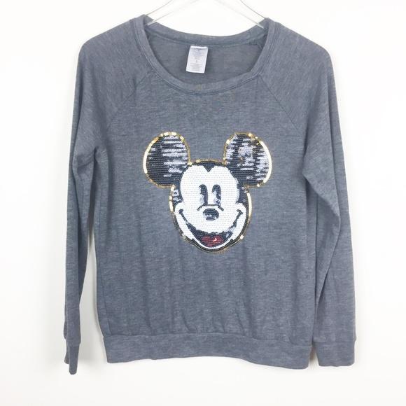 Disney Other - Disney | Sequin Mickey Lightweight Sweatshirt